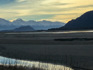 coming to Haines from the north at sunset-1609