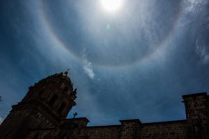 002-Plaza de Armas with half circle rain bow,Cusco,Peru