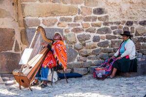 006-Peruvian guy playing Harp