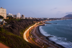 018-Peru, Sunset City in Lima