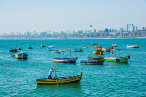 020-Chorrillos, Fisherman in rowing boat,Lima,Peru1